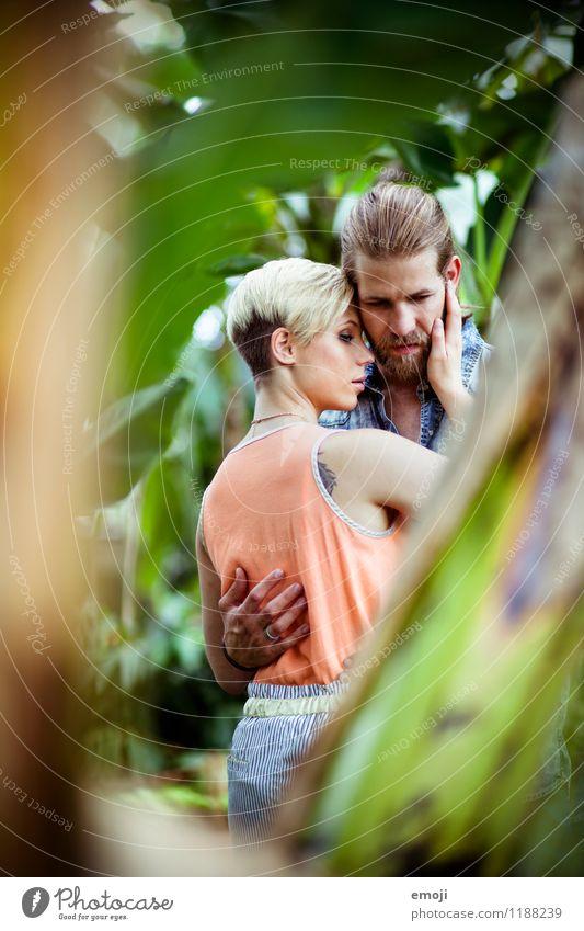 tropisch maskulin feminin Junge Frau Jugendliche Junger Mann Paar 2 Mensch 18-30 Jahre Erwachsene schön natürlich Intimität Liebespaar Erotik Farbfoto