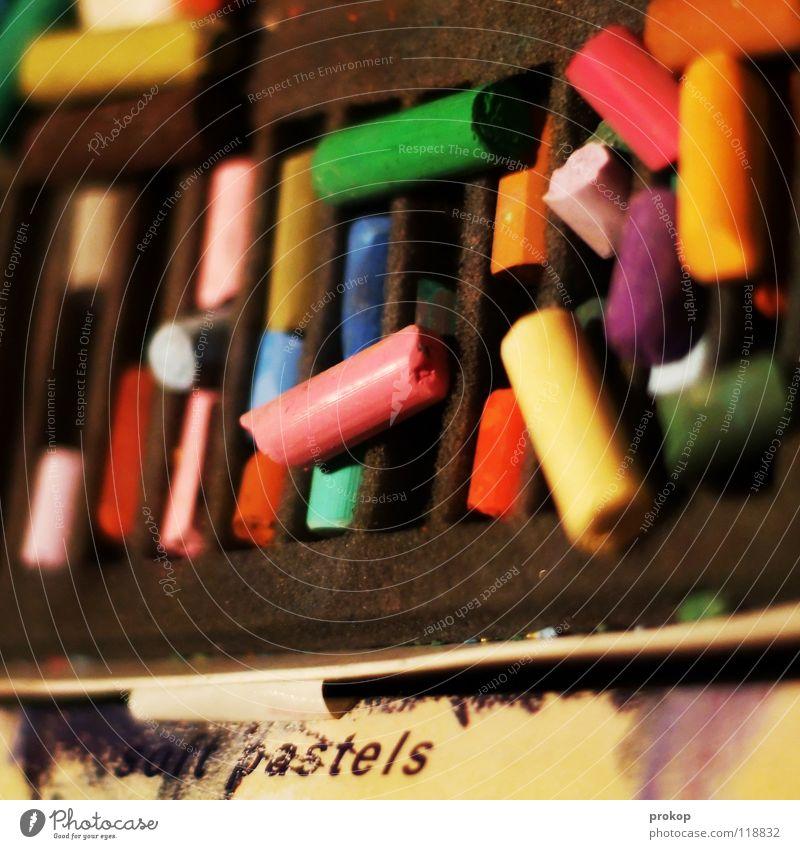 Regenbogenstückchen Freude Farbe Kunst Design Papier Bild streichen Kasten Handwerk zeichnen Lautsprecher Kreativität Idee Karton mehrfarbig Kiste