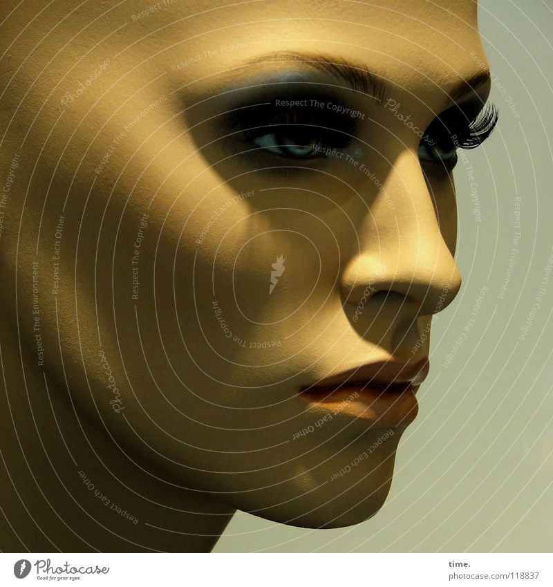 KaufHausFrau schön Erwachsene Gesicht feminin Kopf Kunst Nase stehen Handwerk Gesichtsausdruck Puppe Wimpern Ausstellung Charakter Kunstwerk