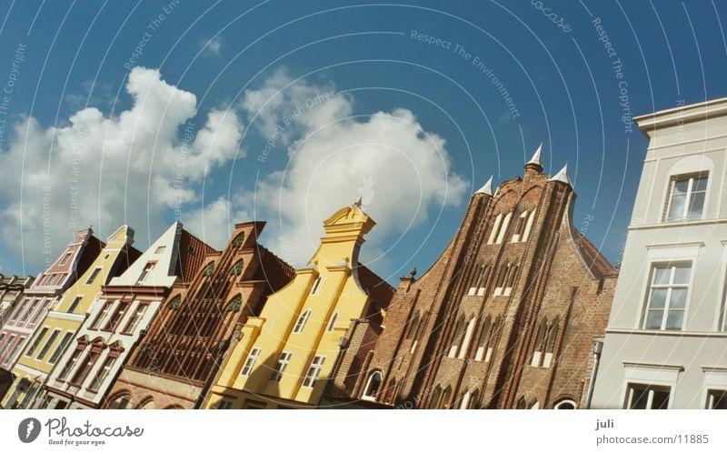 Stralsund Himmel Stadt Haus Wolken Architektur Dach