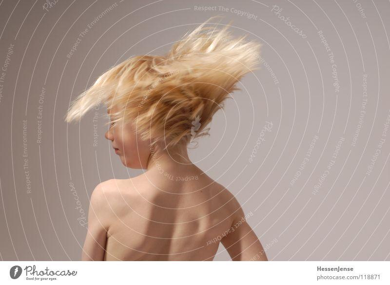 Haare 5 schön Freude Junge Gefühle Bewegung Glück Haare & Frisuren blond fliegen Geschwindigkeit Energiewirtschaft Wut stark Ärger Hass Eile