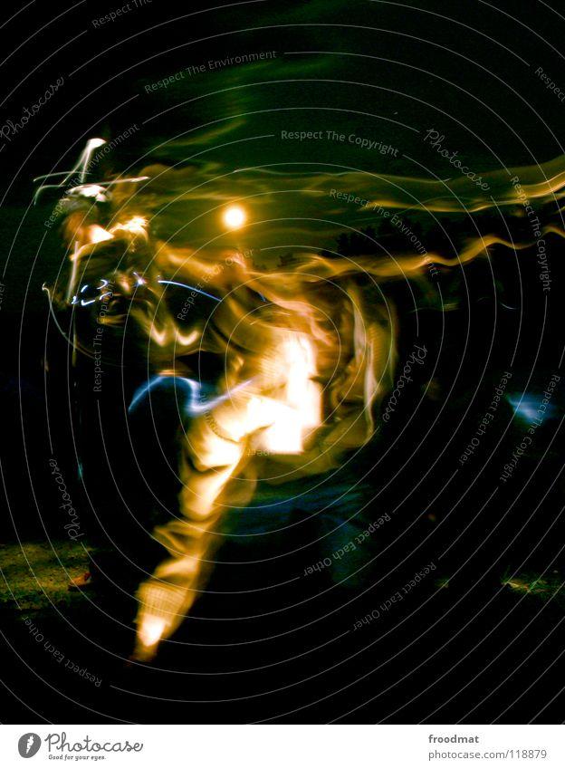 Eastern Lights Licht Nacht Schichtarbeit dunkel Langzeitbelichtung Taschenlampe Spielen Hochformat mystisch Mond froodmat Himmel experiment. hochkant