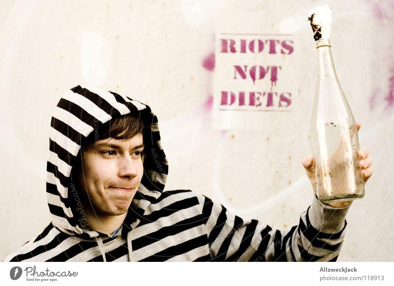 RIOTS NOT DIETZ Jugendliche Brand gefährlich Feuer trinken Wut Gewalt Flasche brennen gegen werfen Mensch Politik & Staat Ärger Demonstration unruhig