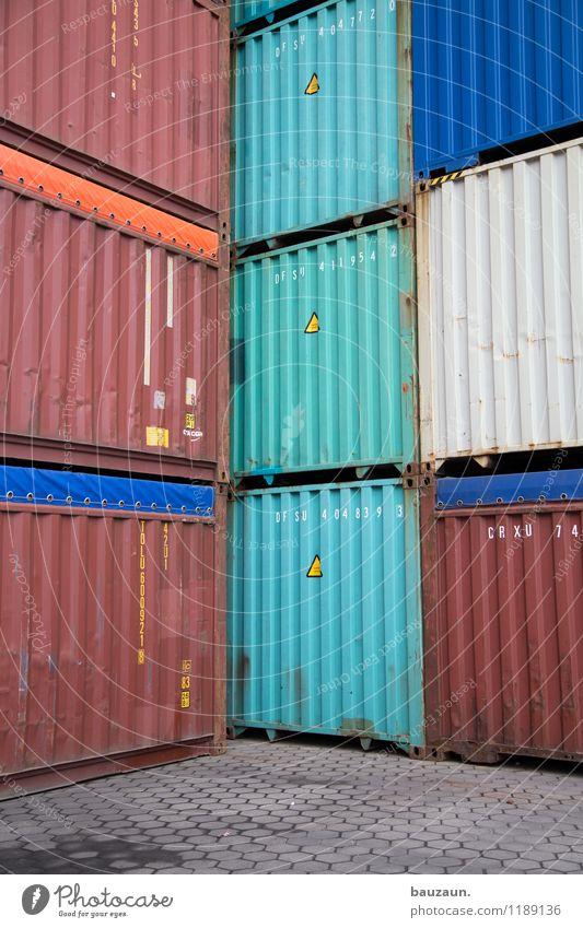 HH | eckstapler. Arbeitsplatz Industrie Handel Güterverkehr & Logistik Business Unternehmen Hafen Straße Wege & Pfade Containerschiff Metall Zeichen
