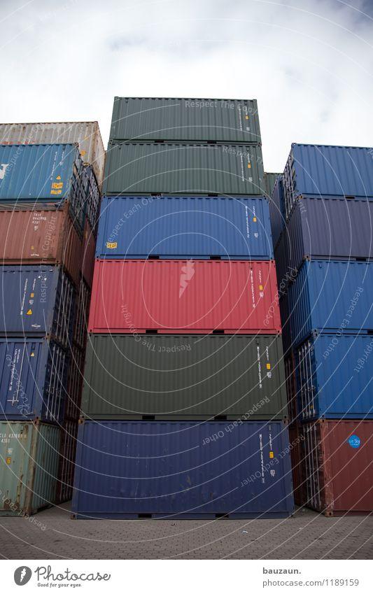 HH | hochstapler. Himmel blau grün rot Wolken Metall Business Kraft stehen Erfolg hoch Zeichen Industrie Macht Güterverkehr & Logistik Ziffern & Zahlen