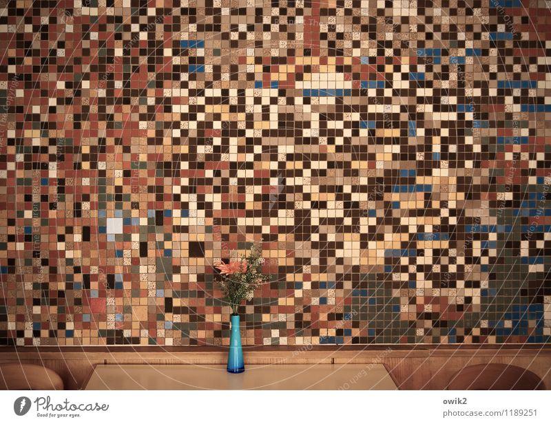Kantine Wand Kunst Design Dekoration & Verzierung Ordnung verrückt Tisch groß retro viele Stuhl Möbel Teile u. Stücke Blumenstrauß Fliesen u. Kacheln chaotisch