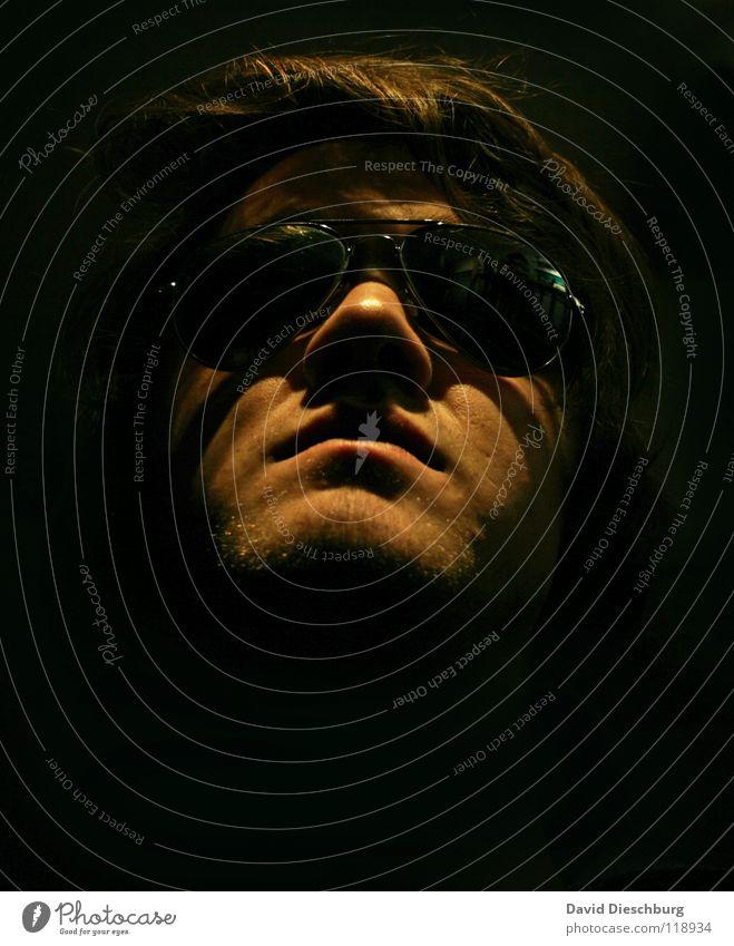 Queens renascence maskulin Brille Barthaare schwarz Reflexion & Spiegelung Mann Lippen Sonnenbrille Wächter braun blond Konzentration MorzKerl Schatten Mensch