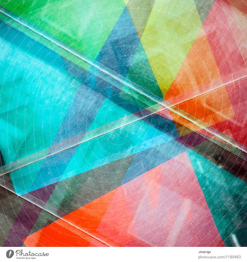 Crossover Stil Design außergewöhnlich Coolness trendy einzigartig mehrfarbig Farbe Geometrie Hintergrundbild Doppelbelichtung Farbfoto Nahaufnahme abstrakt