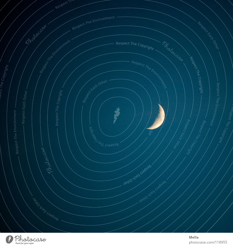 Mondtag Himmel blau Ferne dunkel Wege & Pfade hell Beleuchtung Kraft Kraft schlafen Romantik Konzentration Mond weinen Himmelskörper & Weltall Schwerkraft