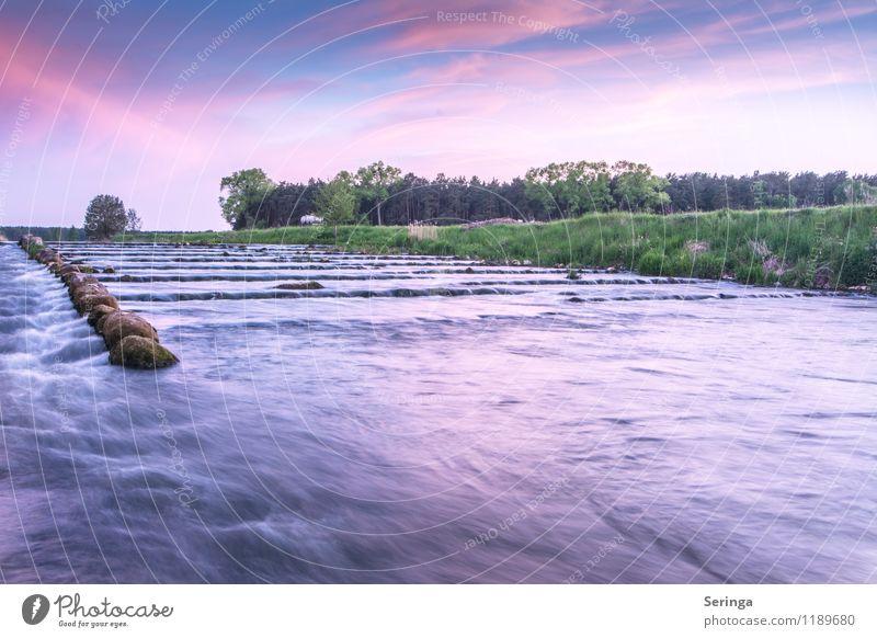 Fischtreppe in der blauen Stunde Erholung ruhig Ferien & Urlaub & Reisen Wellen Umwelt Natur Wasser Wassertropfen Wolken Horizont Sonnenaufgang Sonnenuntergang