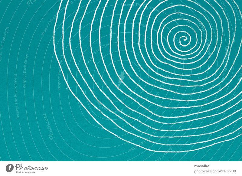 Abstraktes Strudelelement - Spirale auf strukturiertem Papier Design Dekoration & Verzierung Kunst Zeichen Ornament Linie Bewegung Unendlichkeit lustig grün