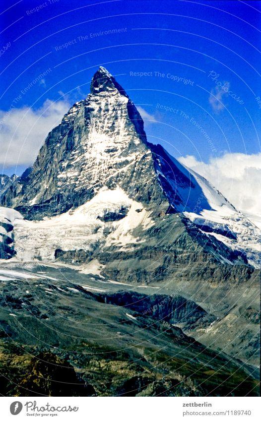 Schweiz (5) Natur Ferien & Urlaub & Reisen Landschaft Ferne Berge u. Gebirge Reisefotografie Wege & Pfade Felsen Eis Nebel Tourismus Textfreiraum Spitze Fußweg Gipfel Alpen