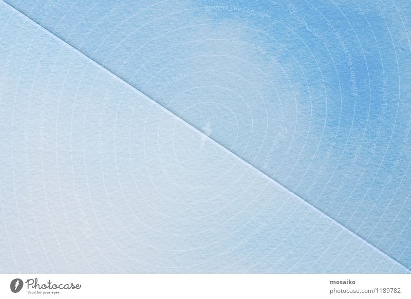 blaue Aquarelle auf strukturiertem Papier Stil Design Tapete einfach frisch hell modern grau Farbe Kreativität Werbung Einladung Entwurf Logo minimalistisch