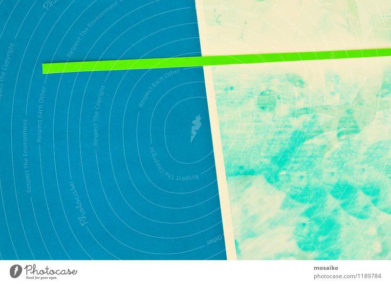abstrakte Papiergestaltung Stil Design Zettel Verpackung einfach frisch modern blau grau grün türkis Farbe Zufriedenheit Idee Inspiration Kreativität Werbung