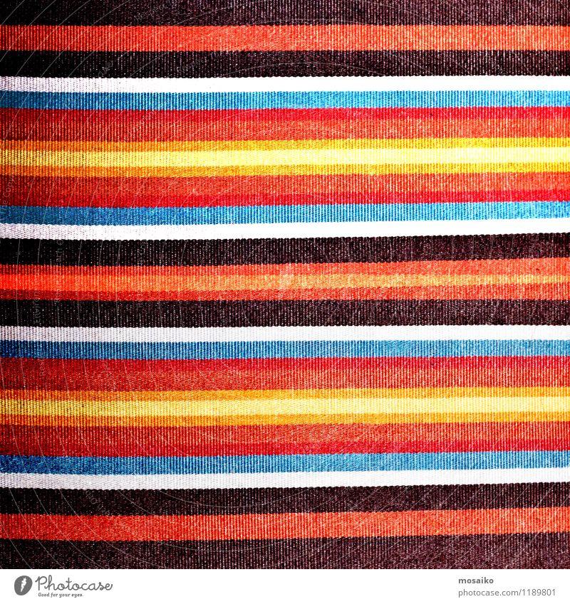 bunte Streifen auf Leinen Textil Design Sommer Mode Stoff Linie trendy retro weich Farbe Tradition Oberfläche Tischwäsche gewebt Stilrichtung Baumwolle