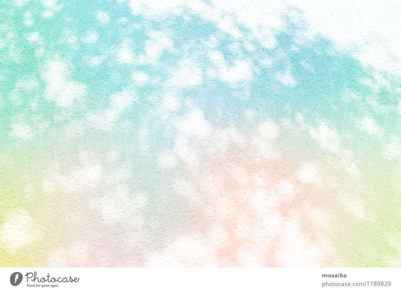 Buntes Farbspiel und Lichter Lifestyle Stil Design Kunst Maler blau mehrfarbig gelb grün rosa türkis weiß Kitsch Kreativität Mode modern Sinnesorgane Stimmung