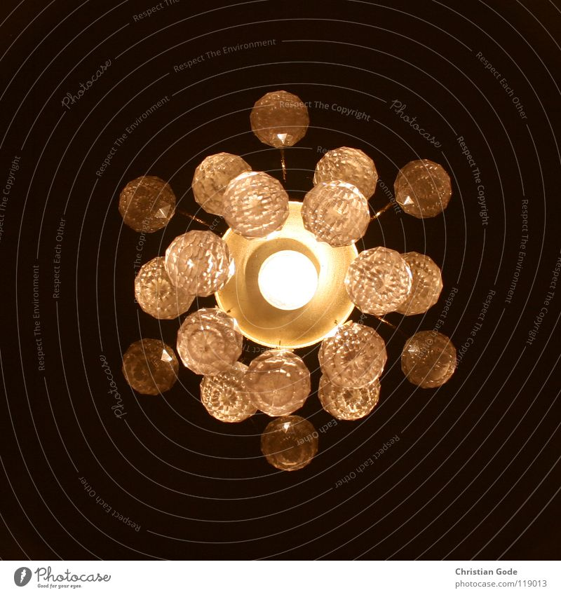 Sonnensystem Lampe Licht dunkel Deckenlampe gelb schwarz Froschperspektive Mitte Quadrat Planet Glühbirne Nacht Dekoration & Verzierung Flur hell Kugel Glas