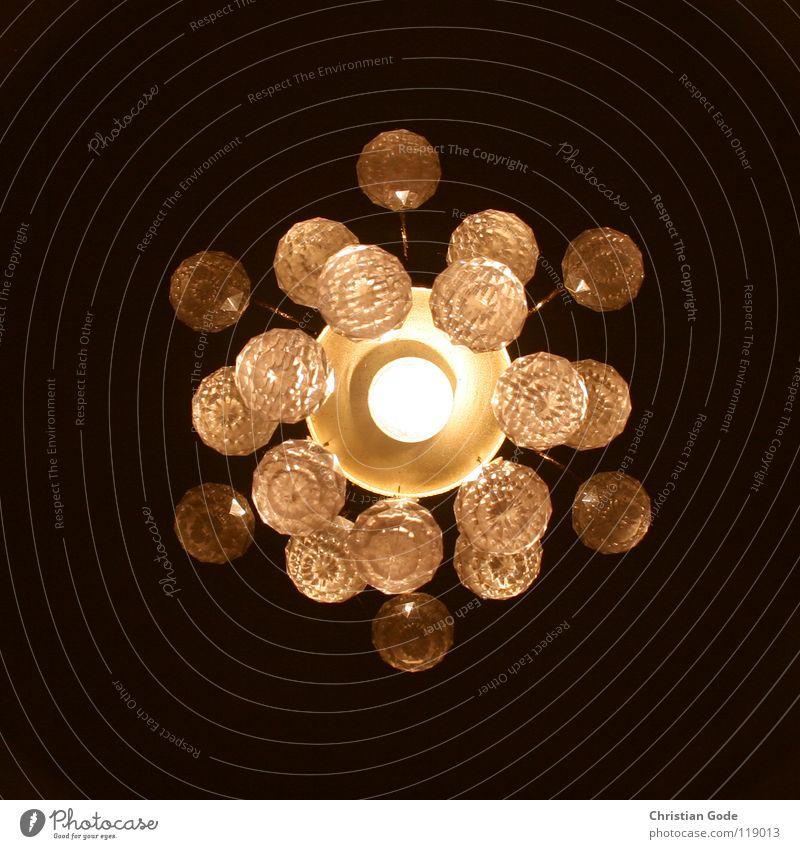 Sonnensystem schwarz gelb dunkel Lampe hell orange Glas Energiewirtschaft Kreis Dekoration & Verzierung Mitte Kugel Weltall Quadrat Decke Flur