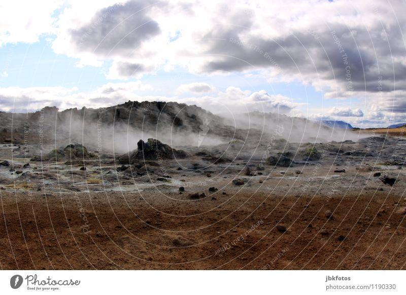 Weltuntergang Umwelt Natur Landschaft Luft Wasser Nebel Eis Frost einzigartig mystisch Namafjall Island Vulkan vulkanisch heiß Wärme Geothermik Wolken