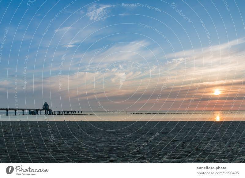Sunrise Ferien & Urlaub & Reisen Tourismus Sommerurlaub Strand Meer Sand Himmel Wolken Sonnenaufgang Sonnenuntergang Küste Ostsee Sehenswürdigkeit Horizont