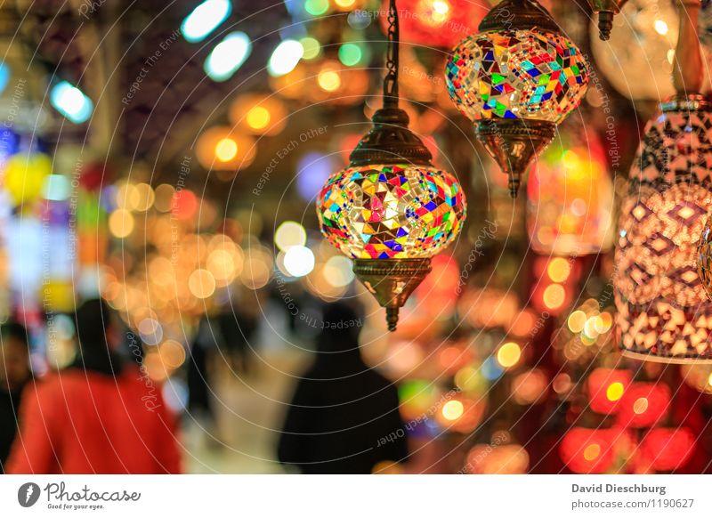 Großer Basar Ferien & Urlaub & Reisen Tourismus Städtereise Mensch Kultur Stadt Sehenswürdigkeit blau braun gelb grün orange schwarz türkis weiß Istanbul Markt