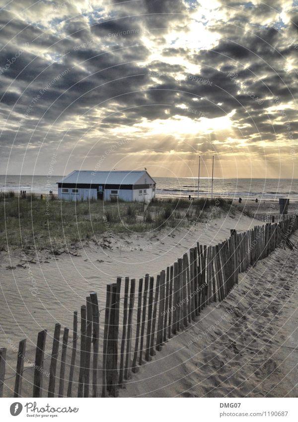 Strandhaus Himmel Ferien & Urlaub & Reisen Sommer Wasser Sonne Meer Wolken Haus Umwelt Küste Schwimmen & Baden See Horizont Wellen Insel