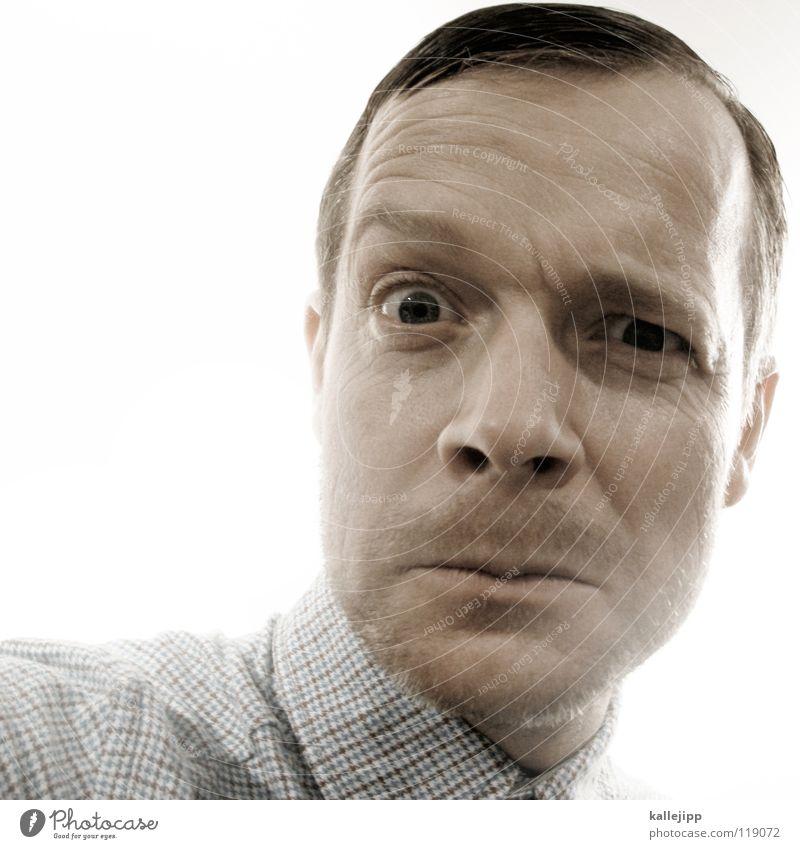 kleinkariert Mensch Mann Auge Denken Haare & Frisuren Deutschland hell Arbeit & Erwerbstätigkeit Ordnung frei Haut Mund Nase Sicherheit Show Körperhaltung