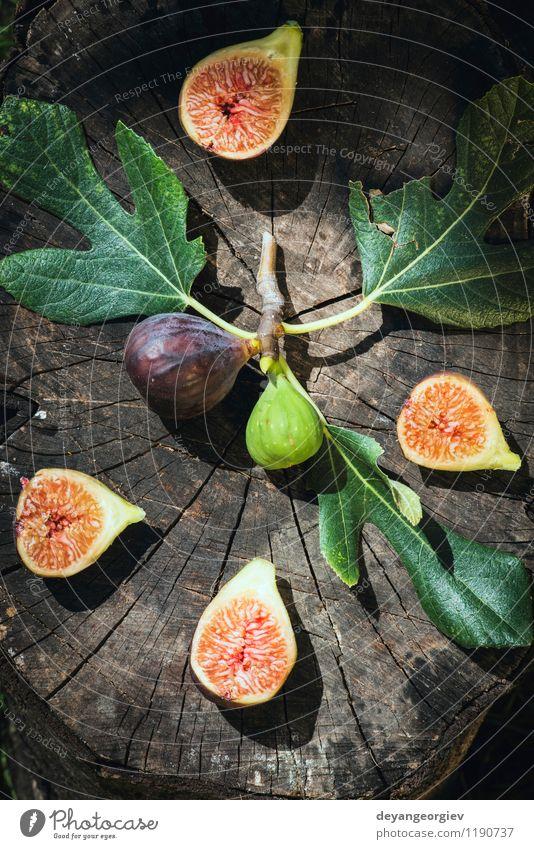 Natur grün rot Blatt Herbst natürlich Frucht frisch exotisch Diät Vitamin saftig Hälfte geschnitten Zutaten roh