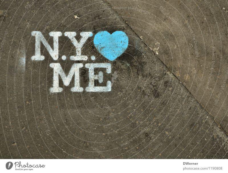 N.Y. Lifestyle elegant Stil Design Tourismus Ausflug Sightseeing Städtereise Kunst Maler Kunstwerk Gemälde Fußgängerzone Menschenleer Architektur Mauer Wand