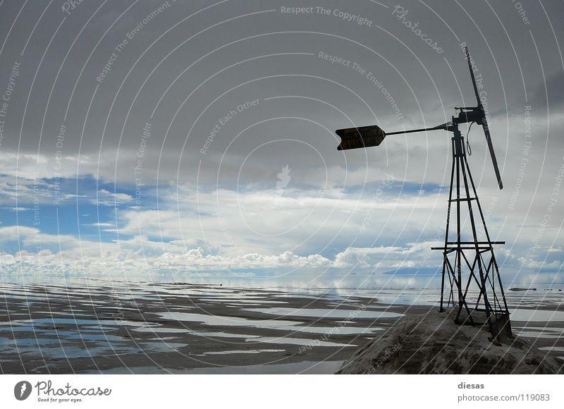 Himmel, Wind und Salz Wolken Mühle ruhig Richtung Unendlichkeit Ewigkeit Sturm Südamerika Frieden Wege & Pfade Ferne Sinnesorgane