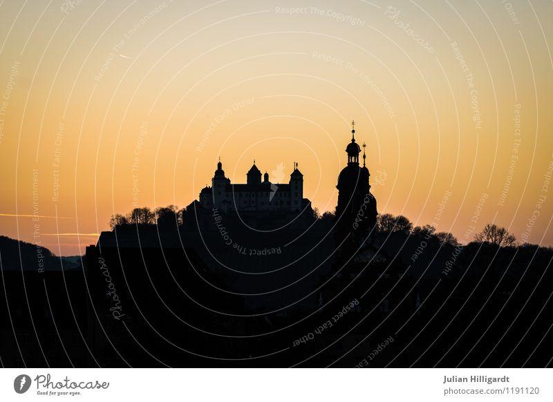 Stadt hinterm Sonnenuntergang Himmel Natur Ferien & Urlaub & Reisen Sommer Wald Umwelt Gefühle Lifestyle Stimmung Freizeit & Hobby Tourismus elegant gold Erfolg