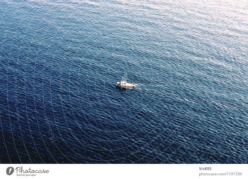 Das Boot Natur Ferien & Urlaub & Reisen Sommer Wasser Sonne Erholung Meer ruhig Ferne Küste Freiheit Schwimmen & Baden Wasserfahrzeug Zufriedenheit Tourismus Wellen