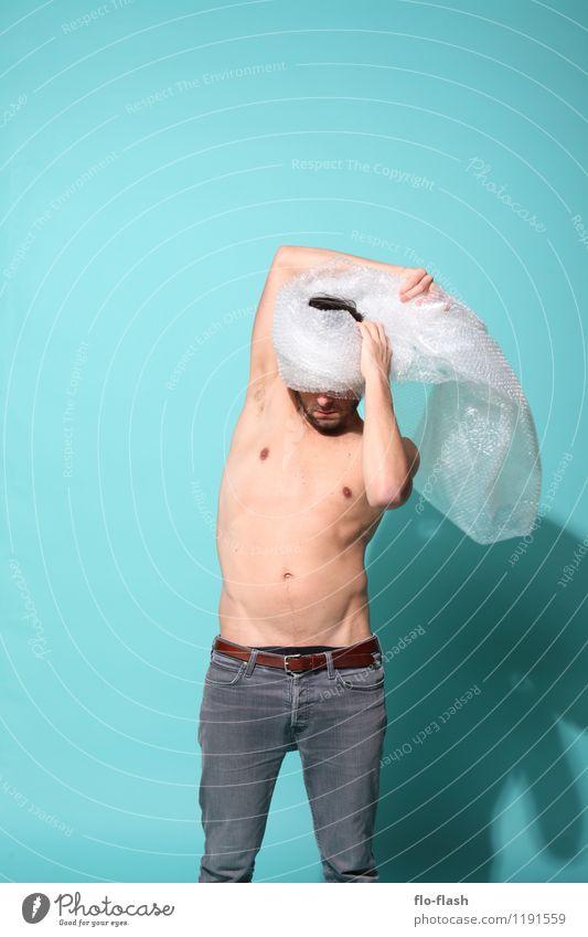 UNPACKING Mensch Jugendliche Mann schön Erotik Junger Mann Freude 18-30 Jahre Erwachsene Umwelt maskulin frisch Körper Haut lernen kaputt