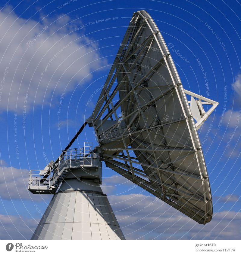Sucher senden Sendgericht hören live Datenübertragung finden Satellitenantenne Fernsehen Radioteleskop Teleskop High-Tech Funktechnik Wissenschaften