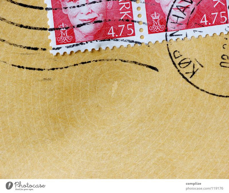 Ein Brief aus Kopenhagen alt Arbeit & Erwerbstätigkeit Schilder & Markierungen Papier neu schreiben Information Werbung Brief Post E-Mail Stempel rechnen früher altmodisch