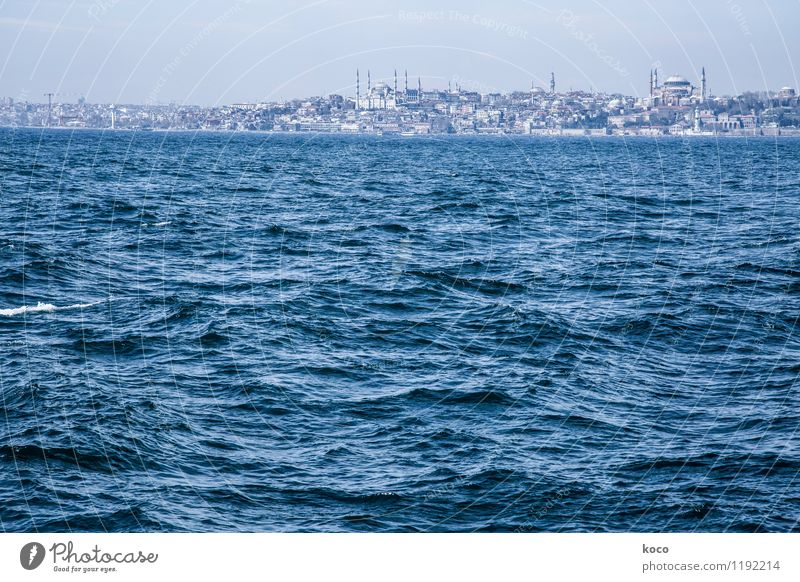 Merhaba Istanbul! Stadt blau Sommer Wasser weiß Meer Ferne kalt Frühling Küste grau Horizont Kraft Wellen nass Europa