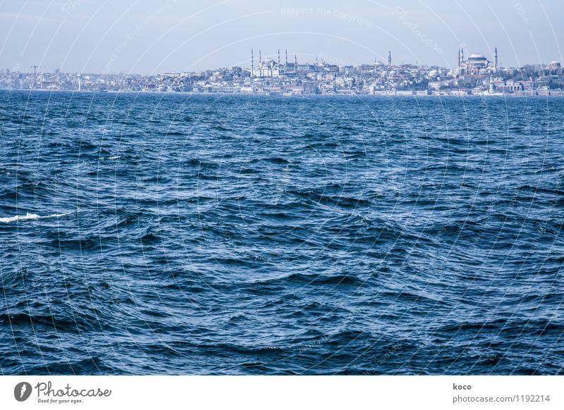 Merhaba Istanbul! Wasser Frühling Sommer Schönes Wetter Wellen Küste Meer Bosporus Türkei Europa Asien Stadt Hauptstadt Hafenstadt Stadtrand Skyline