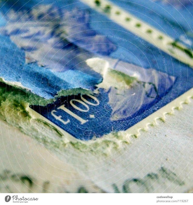 home thoughts from abroad Ziffern & Zahlen Briefmarke Liebesbrief Perforierung Poststempel Briefumschlag E-Mail schriftlich Monarchie Norwich Geld gerissen