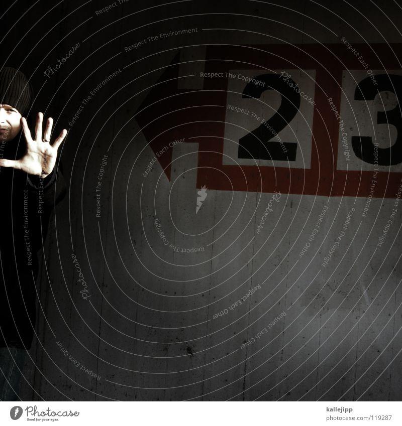 3+2=? Mensch Mann Hand rot Haus Gesicht Wege & Pfade Kopf Denken hell Linie Horizont Arbeit & Erwerbstätigkeit gehen Arme