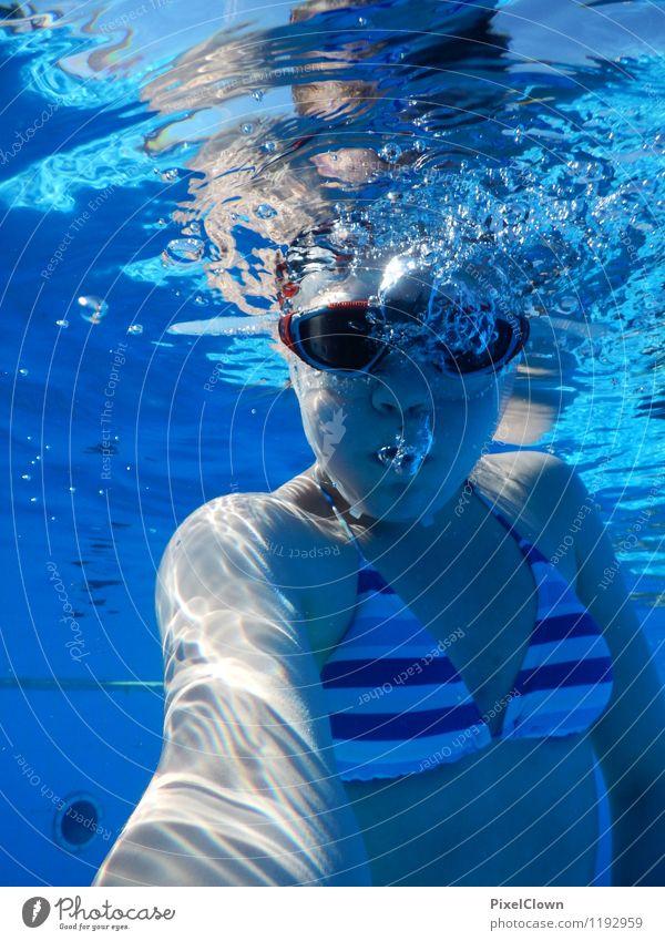 Abtauchen Mensch Ferien & Urlaub & Reisen Jugendliche blau Sommer Wasser Junge Frau Meer Freude Strand Leben feminin Stil Sport Schwimmen & Baden Lifestyle