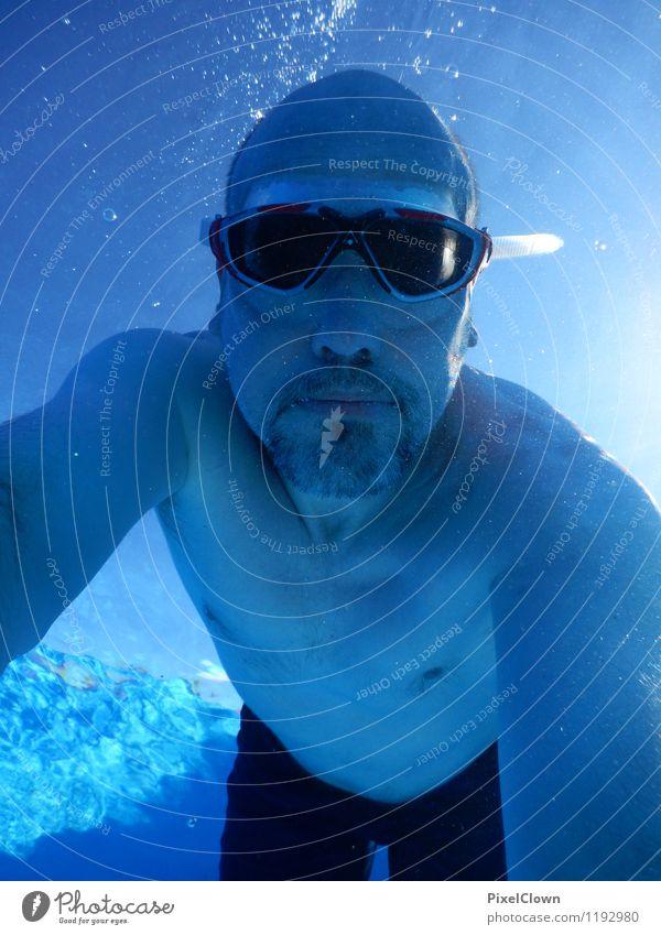 tauchen Mensch Ferien & Urlaub & Reisen blau Wasser Meer Strand Erwachsene Leben Sport Kopf maskulin Freizeit & Hobby Tourismus Abenteuer sportlich