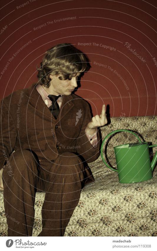 HASS HASS HASS Mensch Mann grün schön rot Junger Mann Freude Tier Wand Wärme Gefühle lustig Stil Mauer Glück Feste & Feiern
