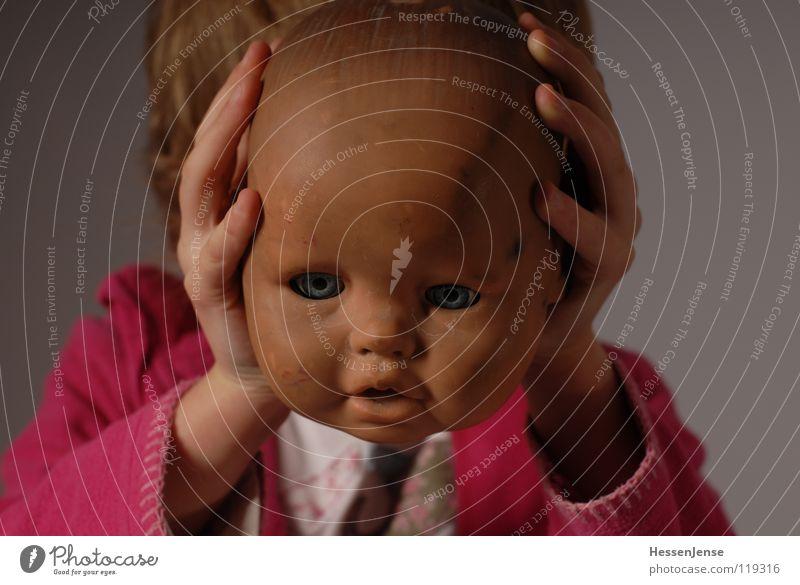 Objekt 9 Kind alt Freude Einsamkeit Gefühle Kopf Religion & Glaube Angst Hintergrundbild kaputt Hoffnung Spielzeug Glatze Schwäche Kopfschmerzen