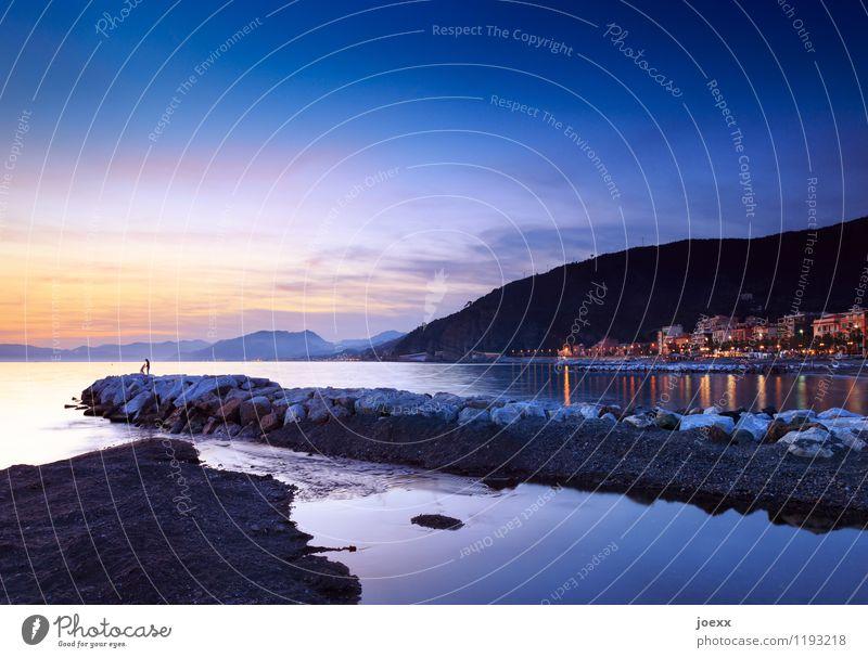 Als wär's für immer Ferien & Urlaub & Reisen Ferne Sommer Sommerurlaub Meer Mensch Paar Partner Landschaft Himmel Horizont Sonnenaufgang Sonnenuntergang