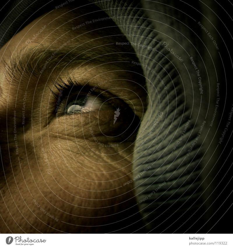 out of bed Wimpern Augenbraue Sinnesorgane Organ Pullover Sommersprossen Pore Optiker Mann Lebewesen Mensch Erfahrung unreif alt Lachfalte Kosmetik Rasieren