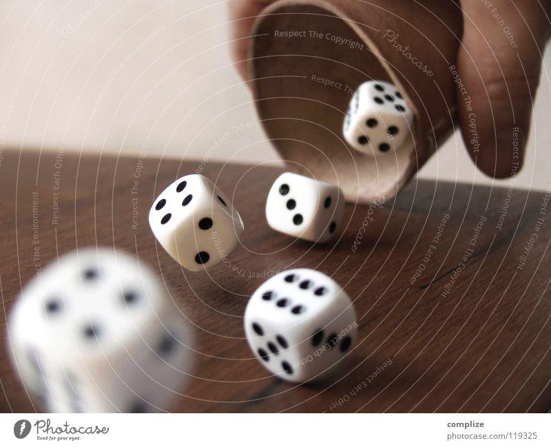 Glück in der Liebe? Becher Freude Spielen Poker Tisch Sportveranstaltung Erfolg Kapitalwirtschaft Börse Mann Erwachsene Hand Holz Ziffern & Zahlen werfen