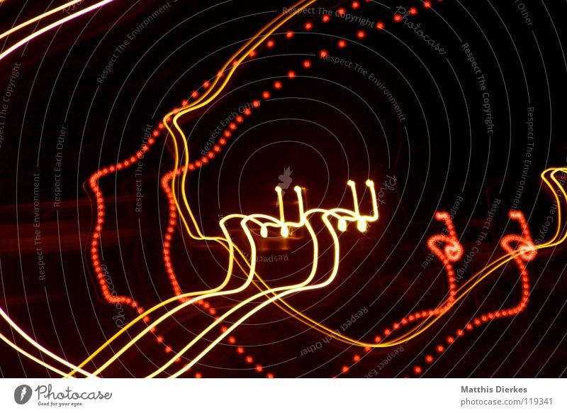 Autobahn III Farbe rot Traurigkeit Beleuchtung Hintergrundbild Lampe Linie orange glänzend PKW Verkehr leuchten Erde hoch Geschwindigkeit Kreis