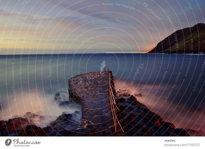 by ferry Umwelt Landschaft Wasser Himmel Wolken Nachthimmel Horizont Sonnenaufgang Sonnenuntergang Frühling Wetter Schönes Wetter Hügel Felsen Wellen Küste Meer