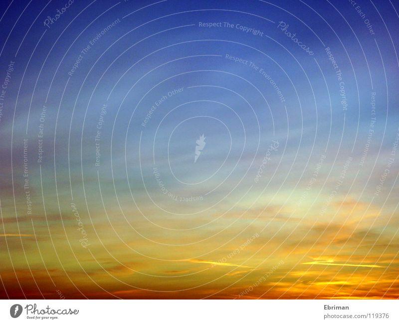 Aquarell Natur Himmel Sonne blau rot Winter Wolken gelb Farbe Freiheit Luft Stimmung orange rosa gold Horizont