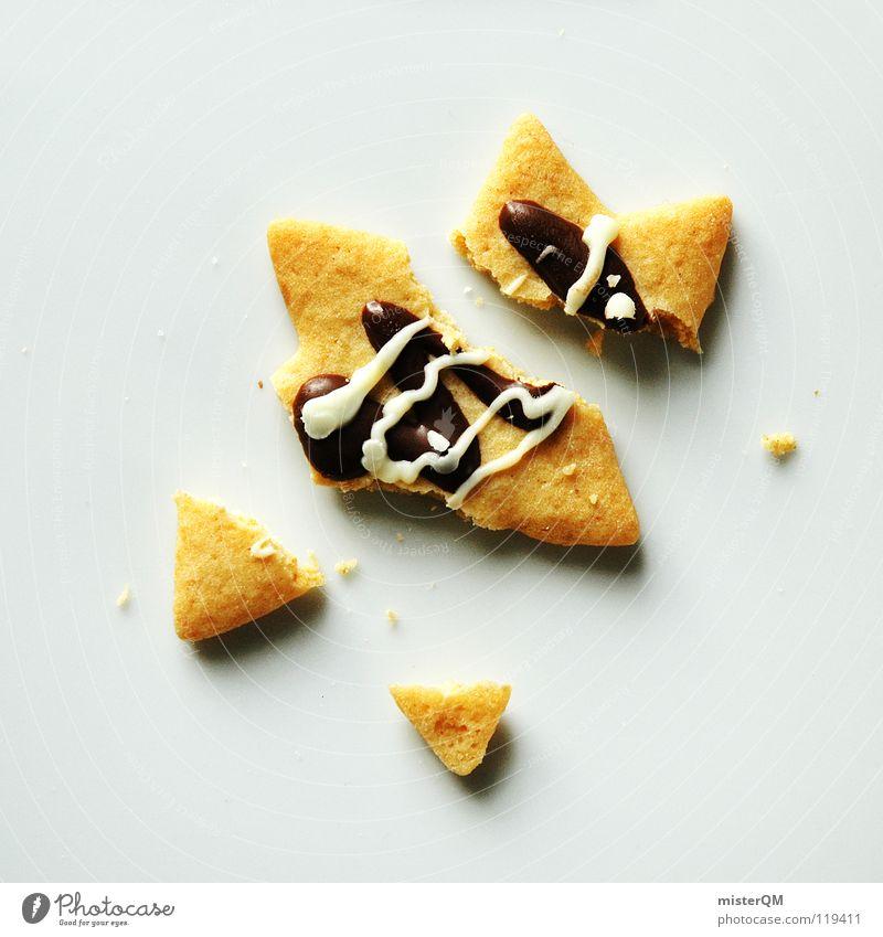 """Starallüren"" oder ""die christmas die."" Weihnachten & Advent Keks gebrochen fertig Zerstörung brutal fremd Schokolade Geschmackssinn lecker Ernährung Süßwaren"